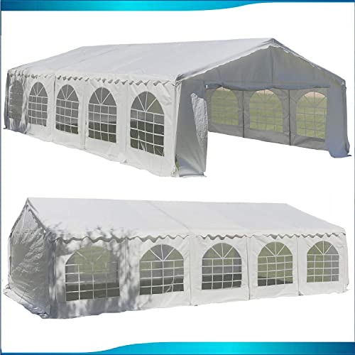 DELTA Canopies Budget PE Party Tent Canopy Shelter White – 32 x20