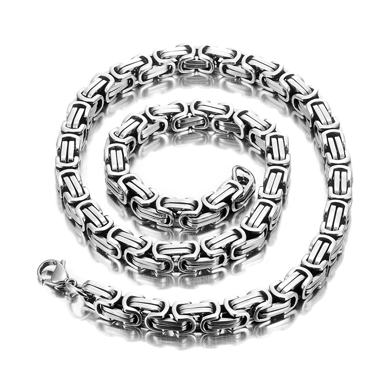 Impressive Mechanic Style Men\'s Necklace Stainless Steel Silver ...