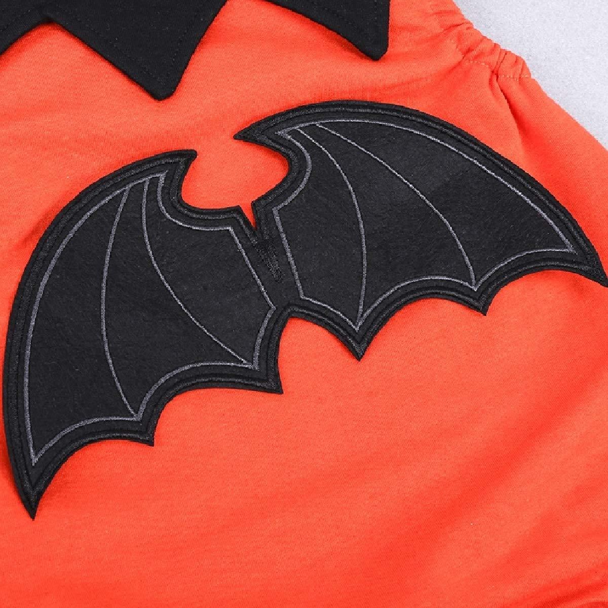 YUNY Baby Cute Fall Winter Cute Halloween Cartoon Romper Jumpsuit Orange 100