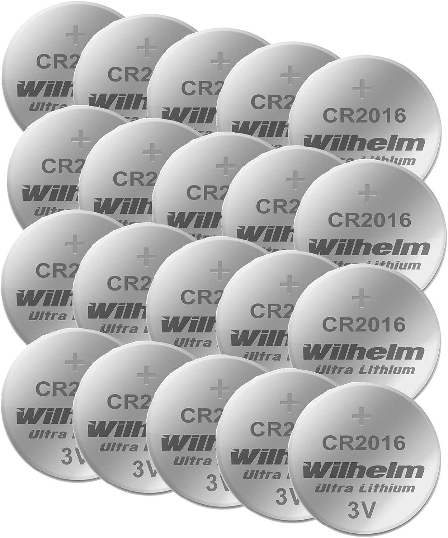 20 X Knopfzelle Cr2016 Wilhelm Batterie Lithium 3v Cr Elektronik