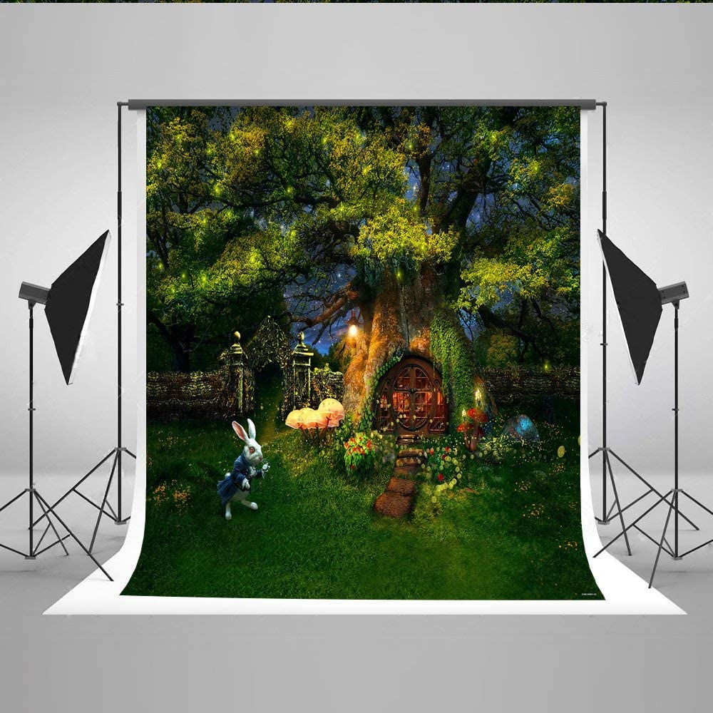 CdHBH 10x12ft Fairy Forest Childrens Photo Background Cloth Festival Venue Party Layout Photo Studio Photo Background Wallpaper Home Decoration Portrait Clothing Photo Photography Background Cloth