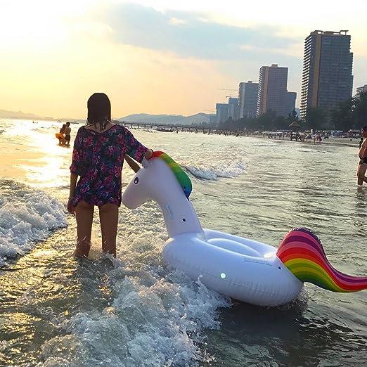 Unicornio Hinchable Colchonetas Piscina, Flotador Unicornio Piscina (200*100*90cm): Amazon.es: Deportes y aire libre