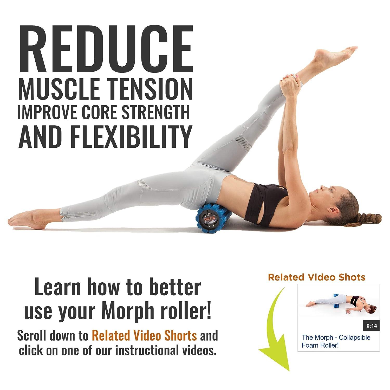 Collapsible /& Portable Muscle Back Massager for Yoga Myofascial Release Massage Brazyn Morph Trek Foam Roller