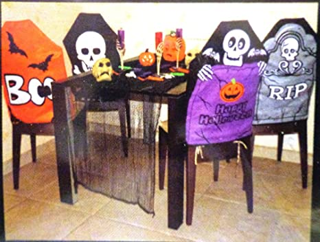 Super Amazon Com Halloween Chair Cover Set Home Kitchen Caraccident5 Cool Chair Designs And Ideas Caraccident5Info