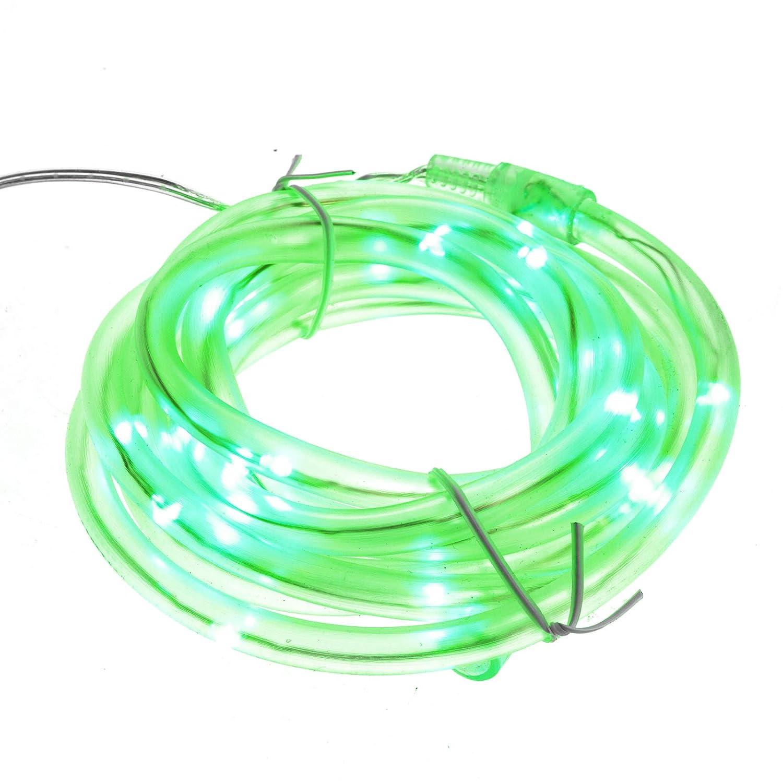 4m LED Lichtschlauch Lichterschlauch Licht Leiste Schlauch für Außen Innen grün