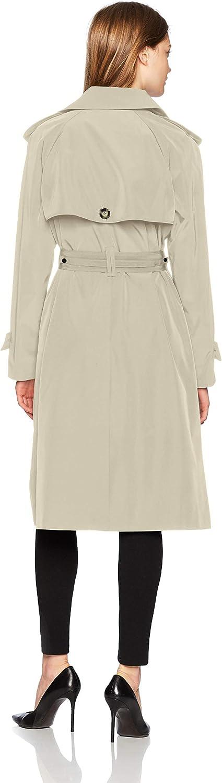 LONDON FOG Womens Midi-Length Trench Coat