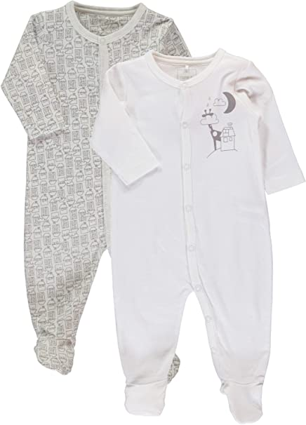 NAME IT - Pelele para dormir - Manga Larga - para bebé niño Cloud Dancer 50: Amazon.es: Ropa y accesorios