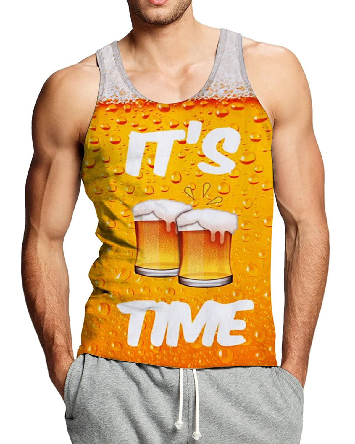 763152625f781a Please check the size chart found your size for best fit or order one size  up if you want loose style. 3D Graphic printed personalized mens tank tops  slim ...
