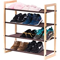 MaidMAX 4-Tiers Wooden Shoe Rack