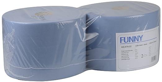 Funny Paper - Toallas de limpieza (2 capas, 22 cm, 2 rollos de