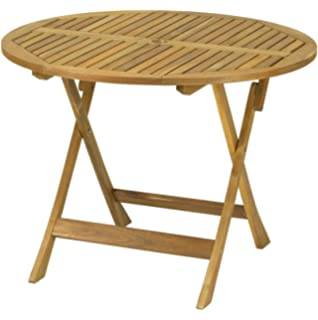 round wood outdoor table. Delighful Wood Royalcraft Manhattan 90Cm Round Table In Wood Outdoor