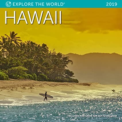 Amazon Com Hawaii Wall Calendar 2019 Monthly January December 12