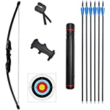 Rootmemory Archery Recurve Bow and Arrows Set for Adults 30 40 lbs with Quiver Target Faces Arm Guard Finger Saver…