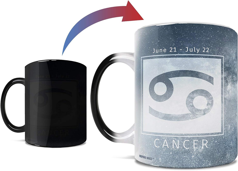 Amazon Com Birthday Zodiac Sign Cancer Morphing Mugs Heat Sensitive Mug Image Revealed When Hot Liquid Is Added One 11oz Ceramic Mug Kitchen Dining