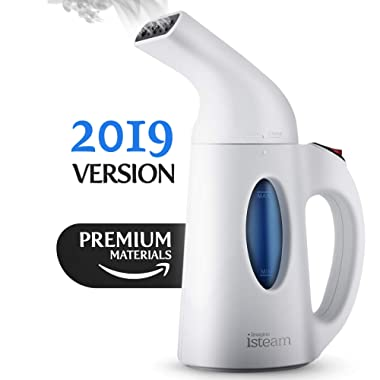 Steamer for Clothes [Updated Version] 7-in-1 Powerful Multi-Use: Wrinkle Remover-Clean-Sterilize-Sanitize-Refresh-Treat-Defrost-Garment/Home/Kitchen/Bathroom/Car/Travel [White]