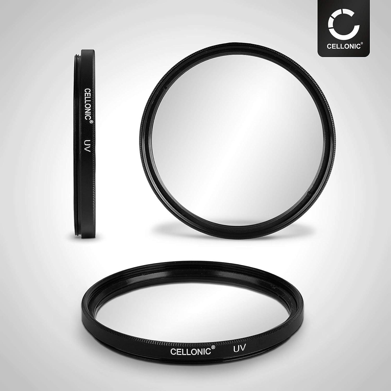 CELLONIC Filtro UV Compatible con Sony 35mm F1.4 DT 18-55mm F3,5-5,6 75-300mm F4.5-5.6 DT 55-200mm 50mm F2,8 /Ø 55mm Filtro Protecci/ón