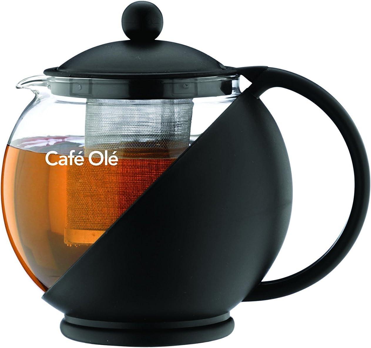 Café Ole-Théière en verre avec filtre - 1,20L