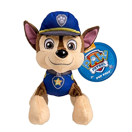 Amazon Com Paw Patrol Plush Pup Pals Chase Toys Games