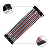 Tonver 120pcs Multicolored Dupont Wire 40pin Male
