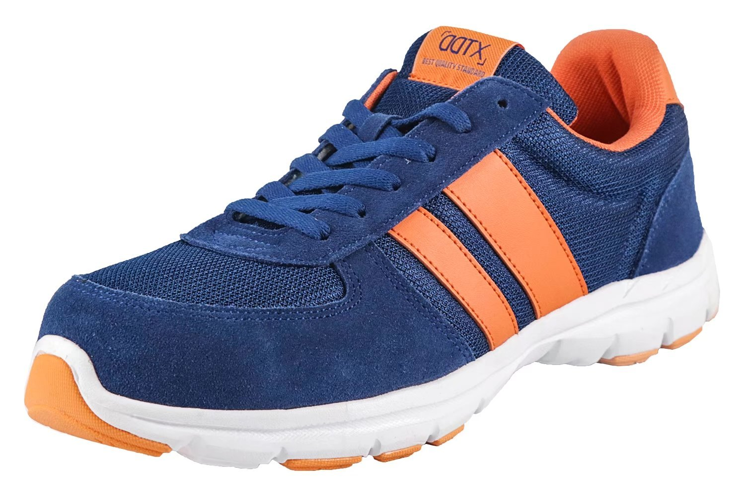 DDTX Spring and Summer Suede Leather Steel Toe Safety Shoes Blue (8)