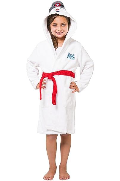 d3a252db8b Amazon.com  Frosty the Snowman Kids  Hooded Plush Robe  Clothing