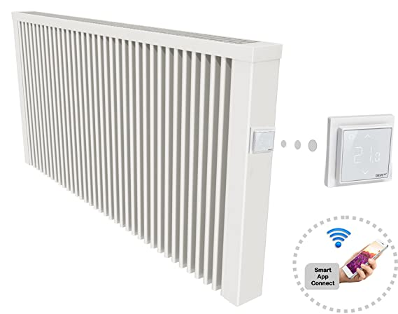 Green NErgy superficie Memoria Calefacción 1300 W con Smart App Connect – Radiador con WiFi integrado