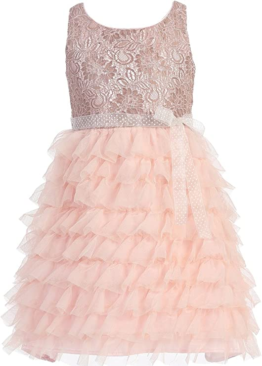 iGirldress Big Girls Doux French Lace /& Ruffle Gown