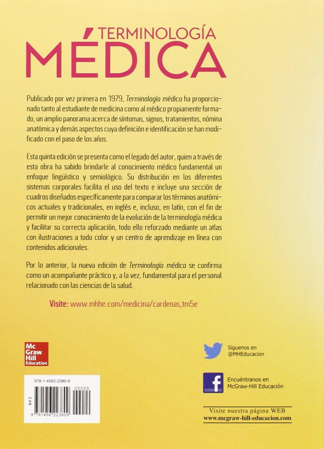 TERMINOLOGIA MEDICA / 5 ED.: ENRIQUE CARDENAS: 9781456223809: Amazon ...