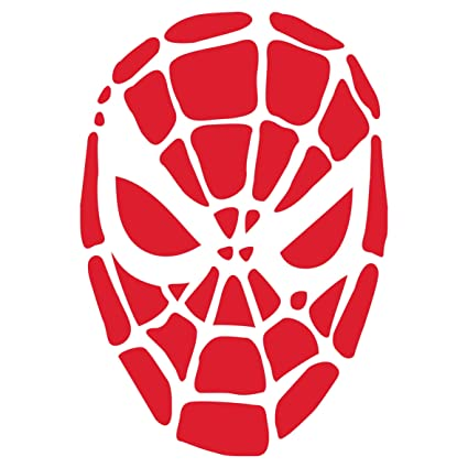 Amazon Halloween Spiderman Mask Stencil Size 65w X 85h