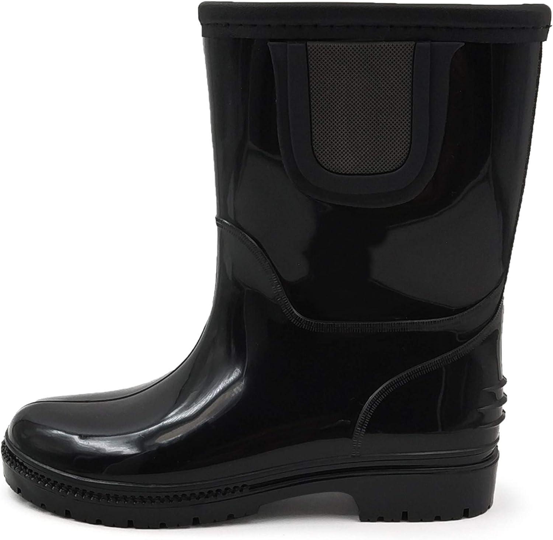 Toddler//Little Kid//Big Kid AMOJI Kid Rain Boots Chelsea Rubber Waterproof Boots