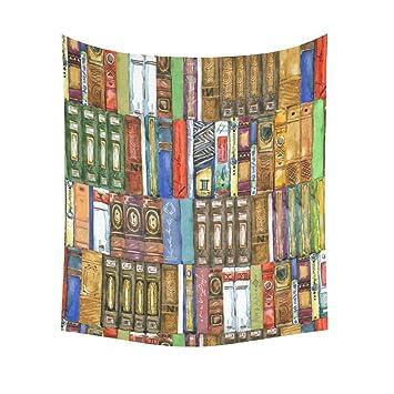 Amazon.com: InterestPrint Retro Bookshelf Home Decor Wall Art ...