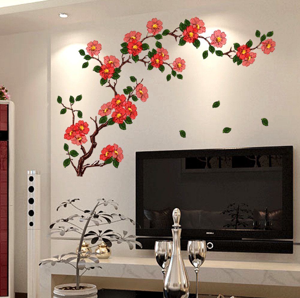 Buy Decals Design Floral Branch Antique Flowers Wall Sticker PVC Vinyl 50 Cm X 70 Online At Low Prices In India