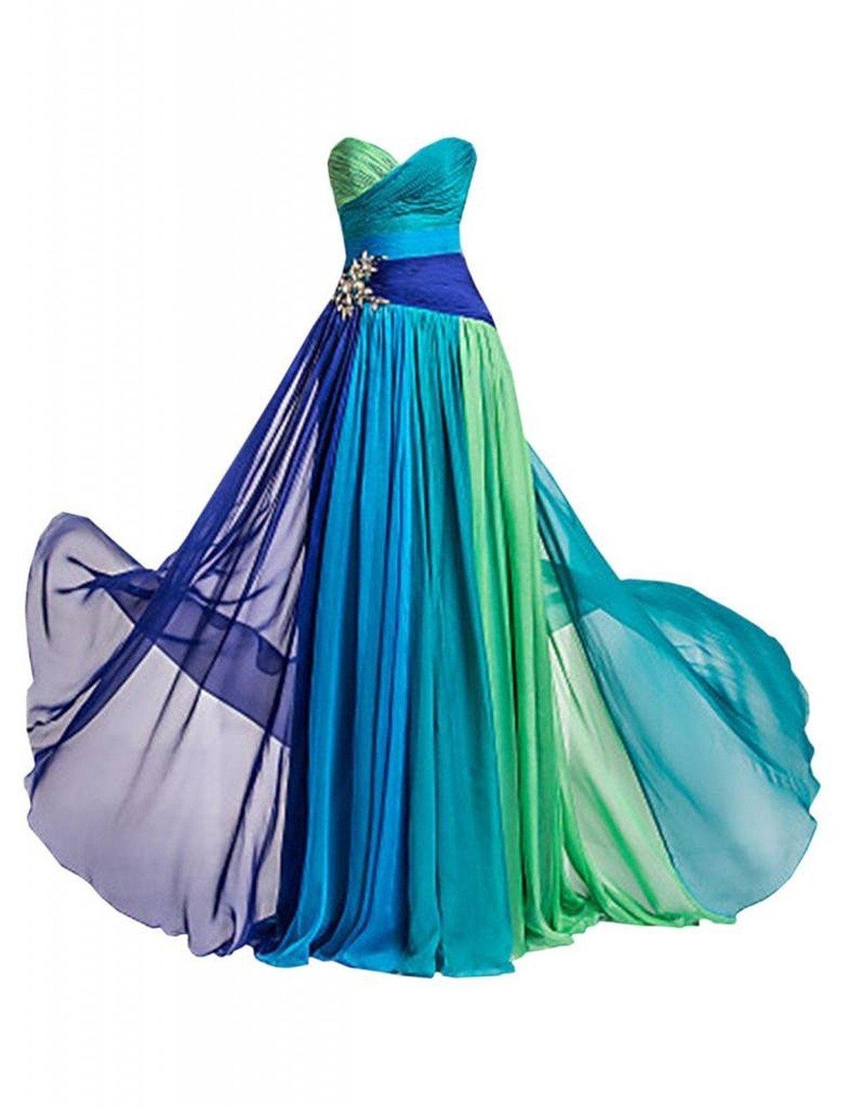 Dormencir Women's Rhinestone Colorful Long Bridesmaid Prom Evening Dresses (12) by Dormencir (Image #1)