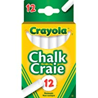 Crayola 51-0312 12 Swan White Chalk, School and Craft Supplies, Teacher Supplies, Gift for Boys and Girls, Kids, Ages 3…
