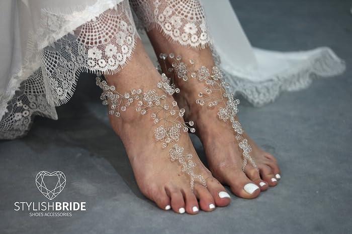 16cc235bf868 Amazon.com  Crystals Barefoot Sandals