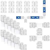 REDTRON Kit de Conector de Tira de Luz LED RGB 5050 de 4 Pines Incluye 10x Conectores de 4 Pines sin espacios, 10x…