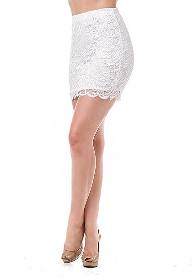 Khanomak - Mini Falda de Ganchillo con Encaje Floral: Amazon.es ...