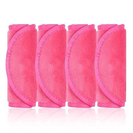 Pack de 4 paños microfibra desmaquilladores libres de químicos (Rosa)