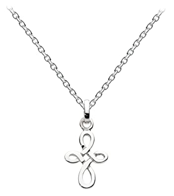 Heritage Womens Celtic Cross and Ring Shaped Pendant Sterling Silver Necklace of 18 inch 3yyepbbO