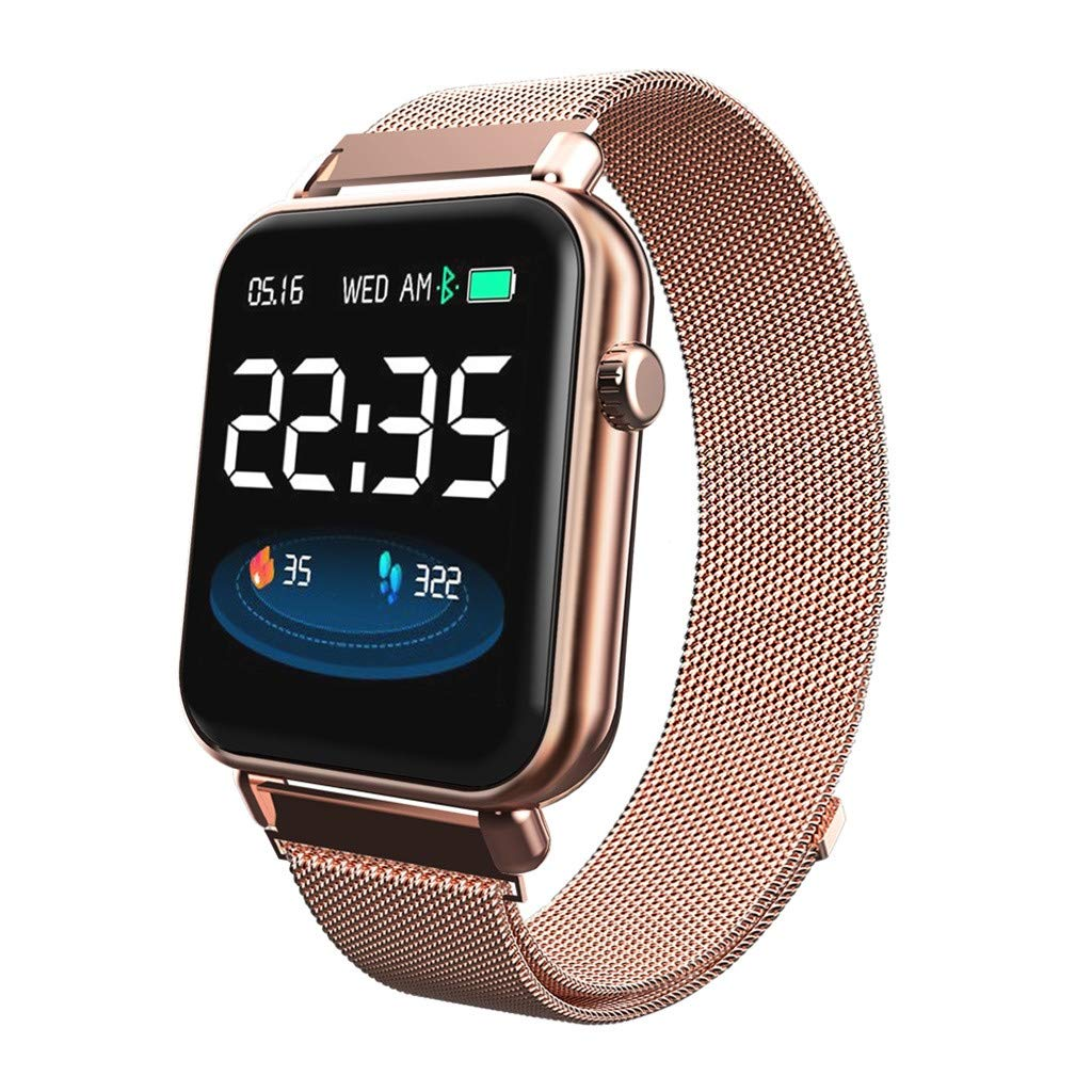 Opef Fitness Tracker HR, Activity Tracker Watch with Heart Rate Monitor, Water Resistant Smart Bracelet with Calorie Counter Pedometer Watch for Android and iOS (Gold) by Opef