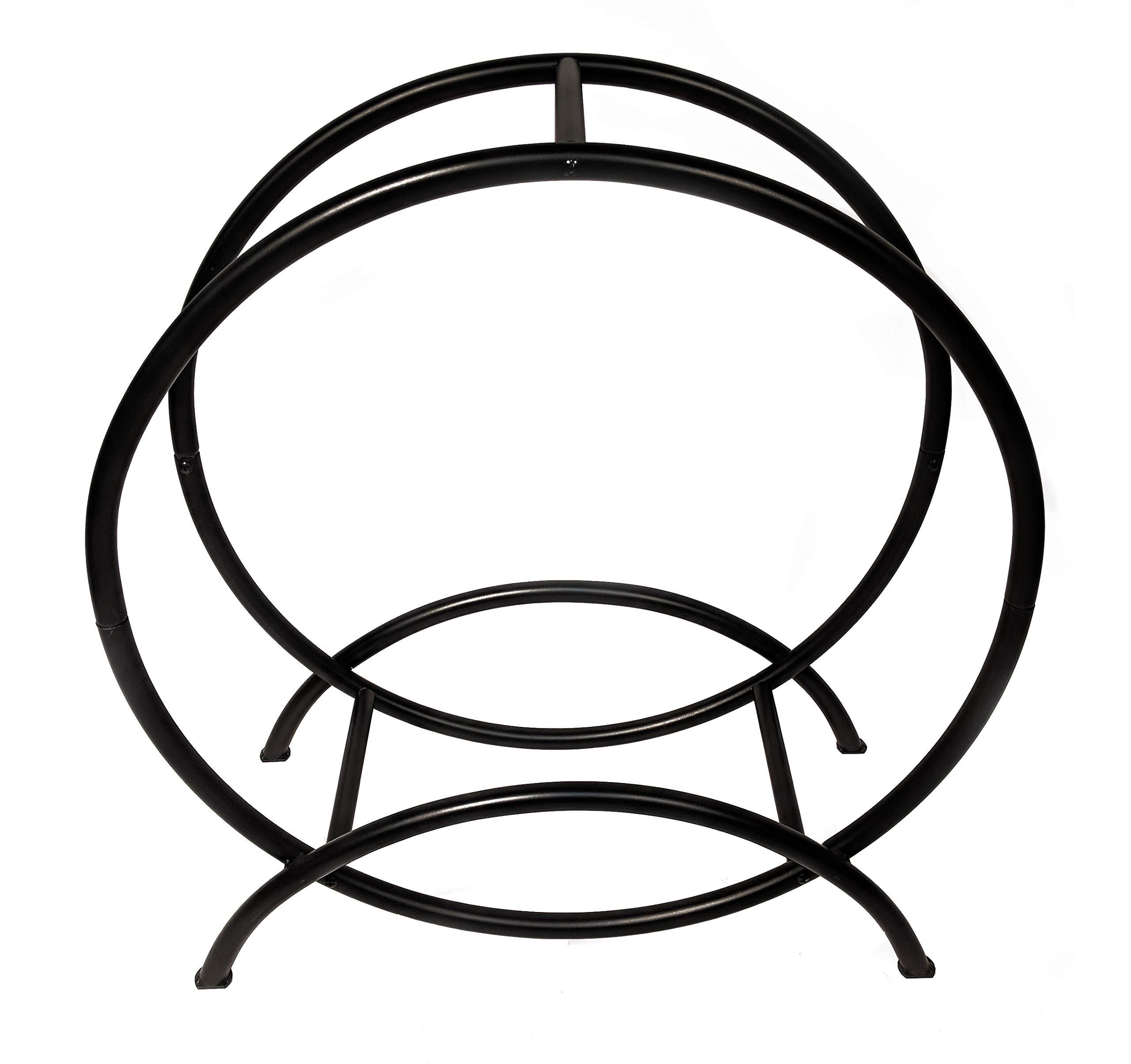 Catalina Creations 30'' Steel Log Hoop Rack | Firewood Rack | Log Holder | Black - AD720 by Catalina Creations