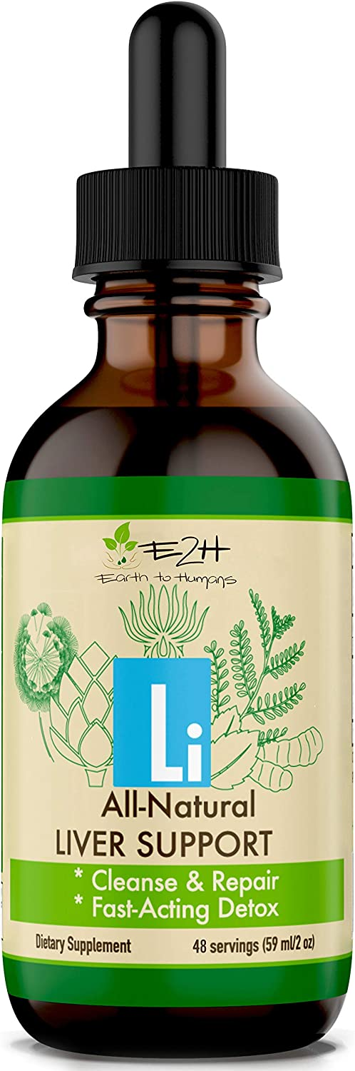 Gentle Liver Cleanse and Detox - All-Natural Liver Support Supplement - Revitalize Your Liver and Your Health - Highly Absorbent Liquid Formula with Milk Thistle, Chanca Piedra – 48 Servings