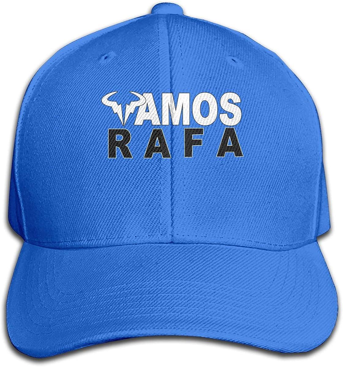 David A Beltran Rafa-Vamos-Rafael-Nadal Gorra Pure Color Peaked Sombrero Premium Sandwich Deportes Ajustables