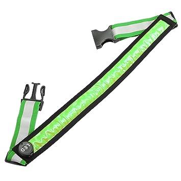 LEADSTAR La Ceinture Réfléchissante à LED Rechargeable par USB pour Courir  Course Vélo(Vert) cefdbaf3326