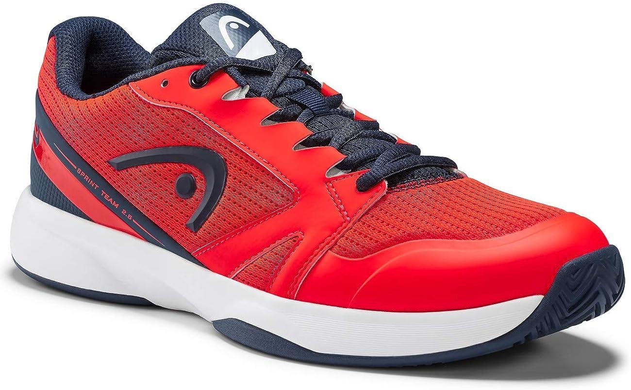 Head Sprint Team 2.5 Men, Zapatillas de Tenis para Hombre, Rojo (Neon Red/Dark Blue Nrdb), 44 EU