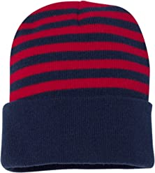 a4b05ddf8ca SNAP SKULL Knitted Striped Knit Beanie Cap Winter Unisex Thick Hat Color  Beanies