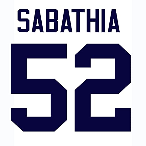 outlet store 0d1e8 8080e CC Sabathia New York Yankees Jersey Number Kit, Authentic ...