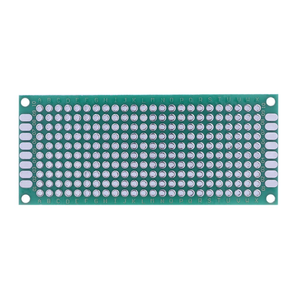 Jocestyle 10 Pcs Double Side Prototype Pcb Universal Printed Circuit How To Without Using Boards Board 10pcs 2x8cm Industrial Scientific