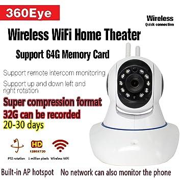 WiFi Cámara, cámaras de vigilancia, detección de movimiento, día/noche de vídeo