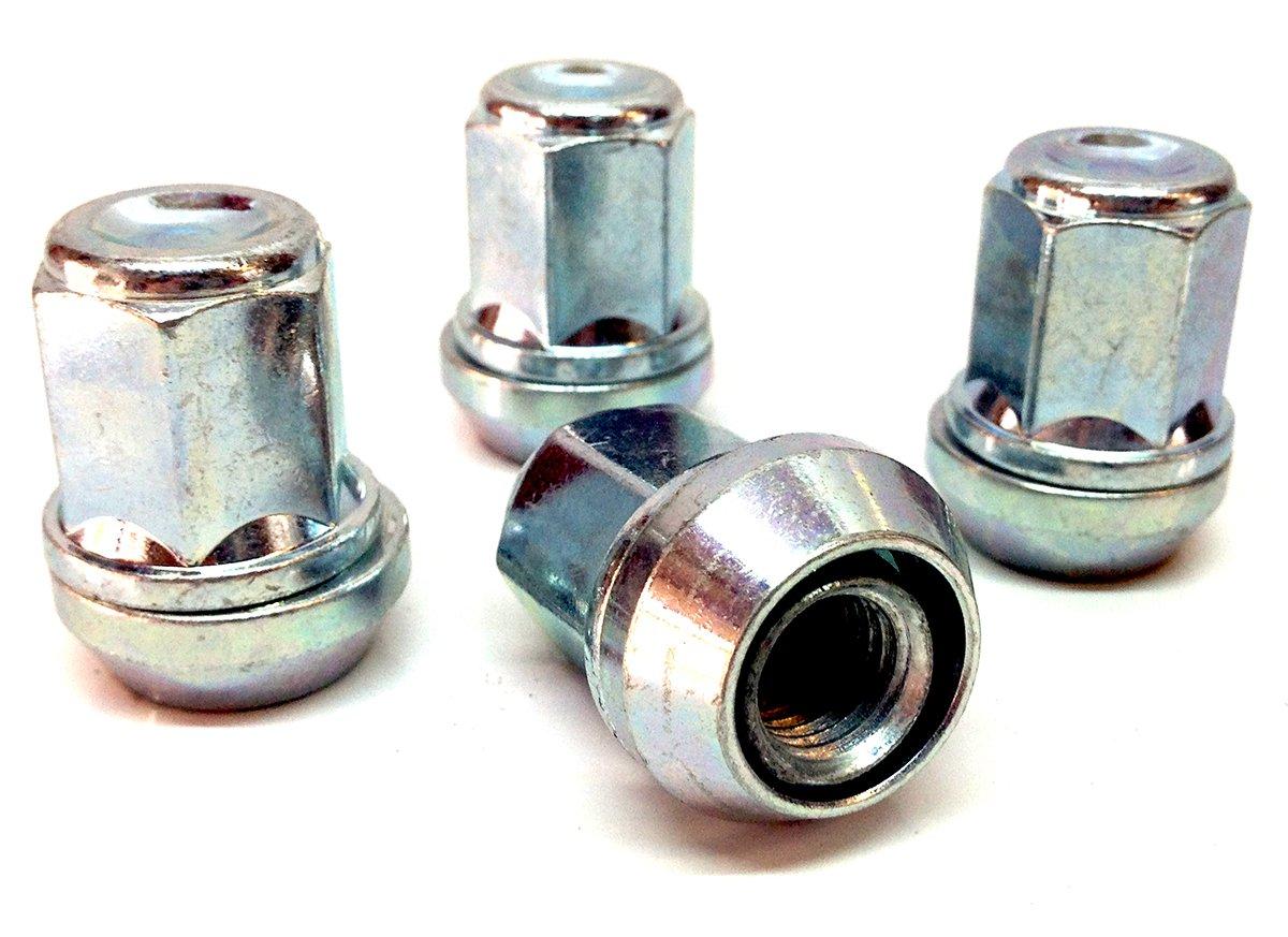 taper seat x 4 19mm Hex 28mm thread alloy wheel bolts nuts lugs M12 x 1.25